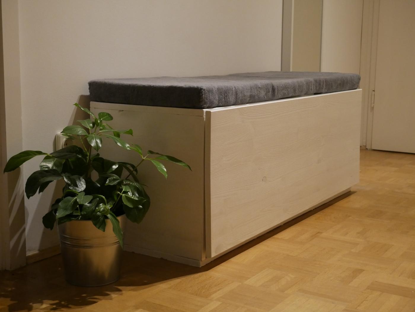 DIY Sitzbank mit Schublade – Basteltainment.com