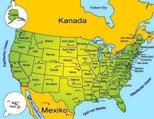karte kalifornien