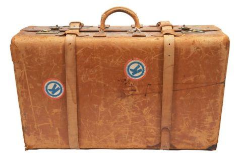 reisekoffer in braun